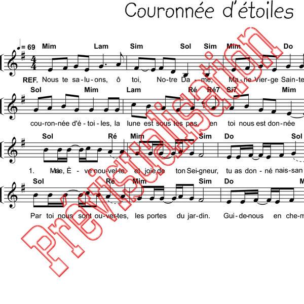 partition du chant couronnee d etoiles