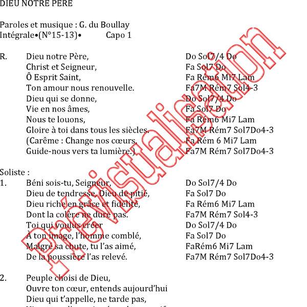Fabuleux Dieu notre Père [ Gilles du Boullay Réf: P000195 Produit original  PR45