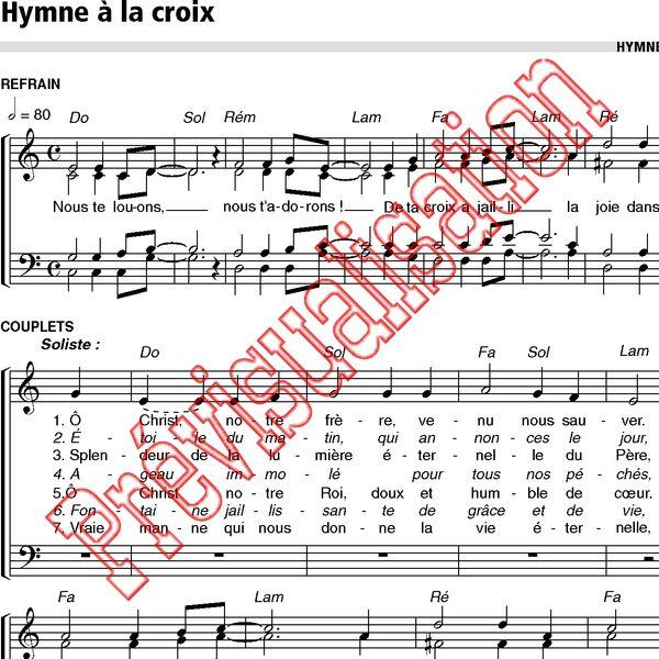 Hymne à La Croix Communauté De Lemmanuel Réf P000237 Produit