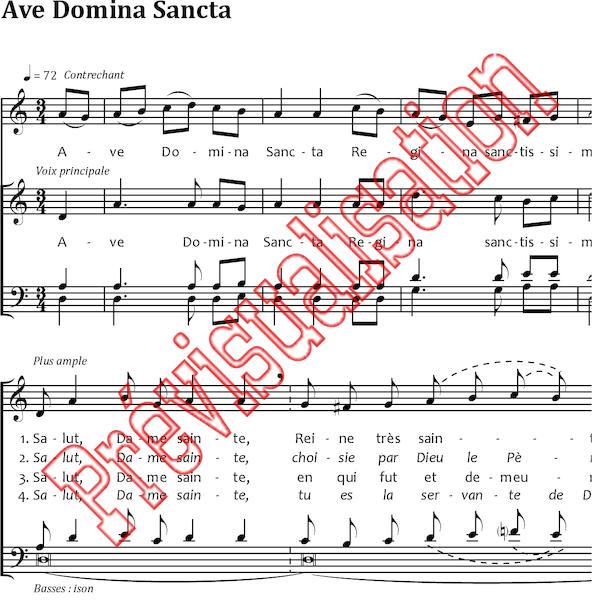 Ave domina sancta g croissant r 233 f p001208 produit original