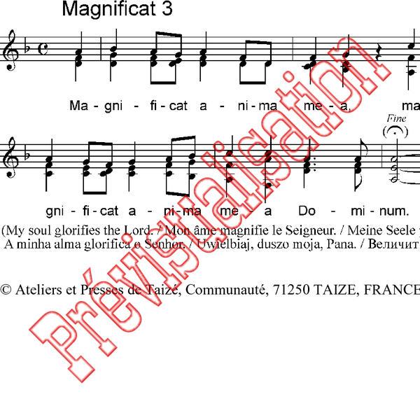 Magnificat 3 [ Cté de Taizé Réf: P001226 Produit original