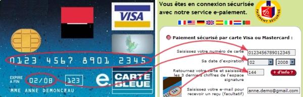 Numéros de carte de crédit pour le porno
